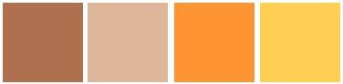 brown tan orange yellow color palette