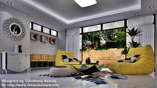 cozy modern lounge
